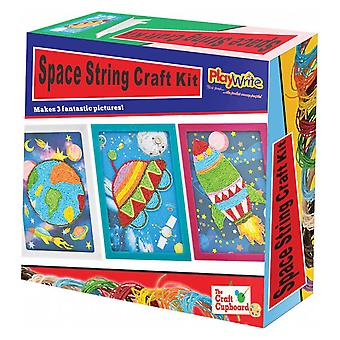 6 ruimte Art Paperstring Craft Sets