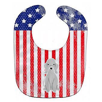 Каролинских сокровища BB3085BIB патриотических США Бедлингтон терьер Blue Baby Bib