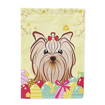 Yorkie Yorkishire Terrier Easter Egg Hunt Flag Canvas House Size