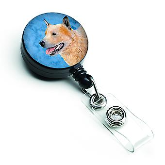Blue Australian Cattle Dog Retractable Badge Reel