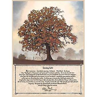 Fall Living Life Poster Print by Bonnie Mohr (12 x 16)