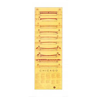 Chicago Bridges Poster Print by Jim Holmes (17 x 40)