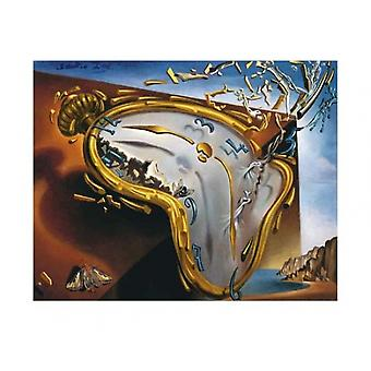 Soft Watch At Moment of First Explosion c1954 Poster Print by Salvador Dali (20 x 16)