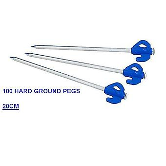 100 X BLUE HARD GROUND PEGS
