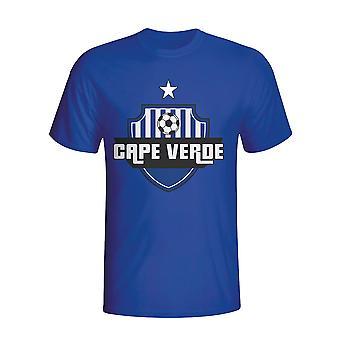 Kap Verde land Logo T-shirt (blå) - børn