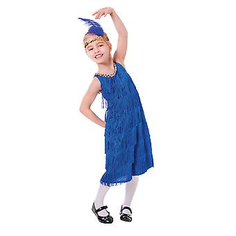 Flapper Dress Blue (M)