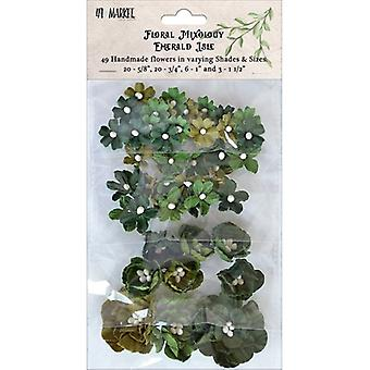 Floral Mixology Paper Flowers Assorted Sizes 49/Pkg-Emerald Isle 49FM-85748