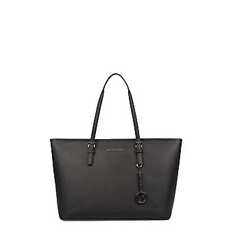 Michael by Michael Kors women's 30T5STVT2L001 black leather tote