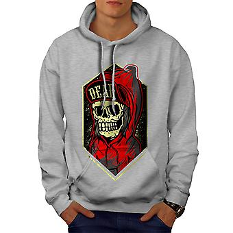 Death Gangster Men GreyHoodie | Wellcoda