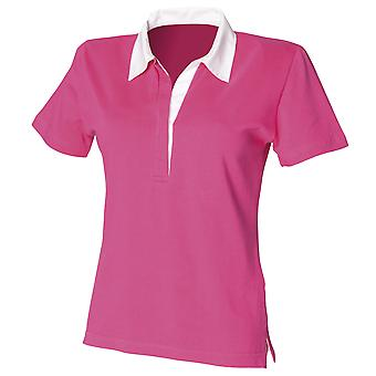 Front Row Womens/Ladies Short Sleeve Stretch Rugby Shirt