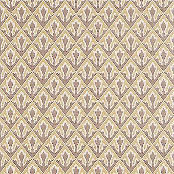 Zoffany Brown & Beige Wallpaper Roll - Patterned Kitchen Design - ACV05003