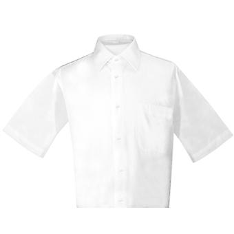 Biagio 100% Cotton Men's Short Sleeve Solid Dress Shirt