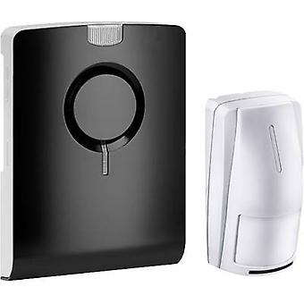 Wireless door chime Complete set recordable, with motion detector Grothe 43515