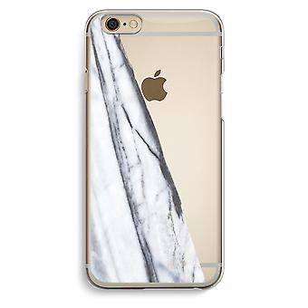 iPhone 6 / 6S Transparent Case - Striped marble