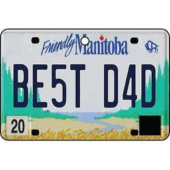 MANITOBA - Best Dad License Plate Car Air Freshener
