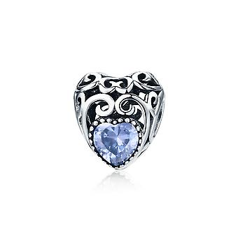 Sterling silver charm Birthstone for June SCC573-6