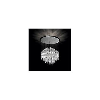 Ideal Lux Majestic Crystal Pendant Ball Ceiling Crystal Light, 10 X G9 40W