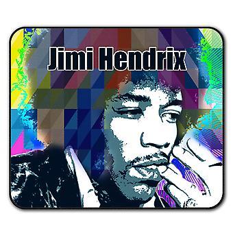 Hendrix Famous Celebrity  Non-Slip Mouse Mat Pad 24cm x 20cm | Wellcoda