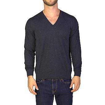 Cotone Cashmere Blend girocollo maglione grigio Prada uomo