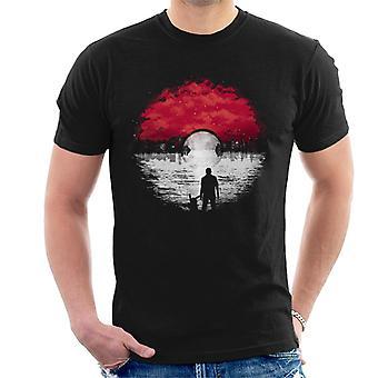 Pokemon andare t-shirt di paesaggio urbano uomo
