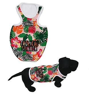 MI&DOG Camiseta Tirantes Tropical Summer T-45 (Dogs , Dog Clothes , T-Shirts)