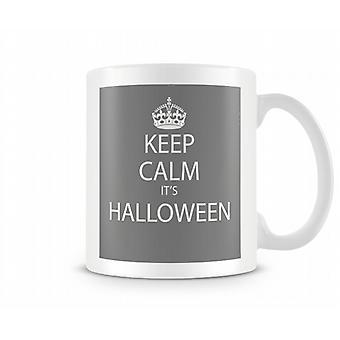 Halten Sie es ruhig s Halloween bedruckte Becher
