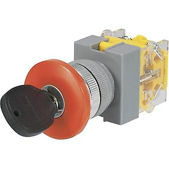 TRU COMPONENTS Y090-A-20YM/32 Key switch 250 V AC 5 A 2 x On/Off/(On) 2 x 45 ° 1 pc(s)