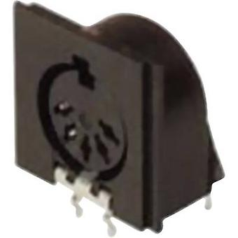 DIN connector Socket, horizontal mount Number of pins: 5 Black Hirschmann MAB 5SH 1 pc(s)
