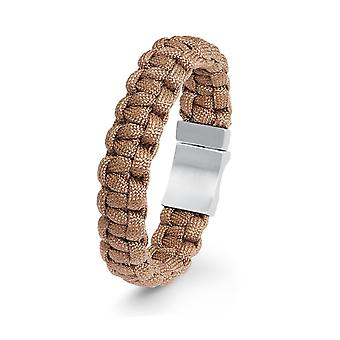 s.Oliver jewel mens bracelet nylon Brown stainless steel 2022615