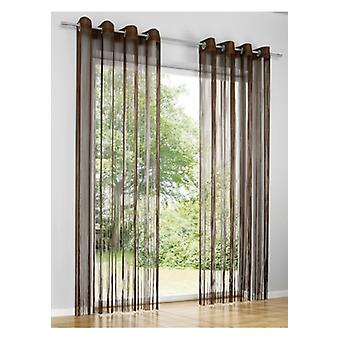 Heine home Fadenstore curtain room divider insect protection eyelets Brown 160 x 95 cm