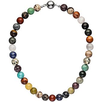 Necklace chain with precious colorful multcolor 45 cm chain gemstone necklace