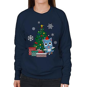Happy Fairy Tail Around The Christmas Tree Women's Sweatshirt