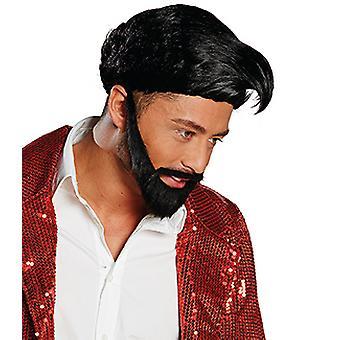 Hardy med en skjegg parykk