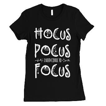 Hocus Pocus Focus Womens Black T-Shirt