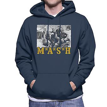 Retro beslag Cast mannen Hooded Sweatshirt