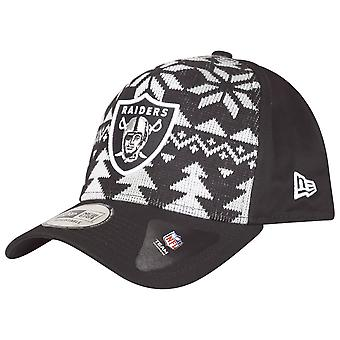 New era Christmas jumper Trucker Cap - NFL Oakland Raiders