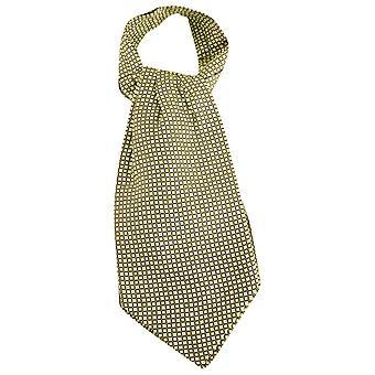 Knightsbridge Neckwear kwadratów Jedwabny krawat - Limonkowy