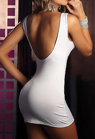 Waooh - Fashion - Summer Dress White With A Zip A The front