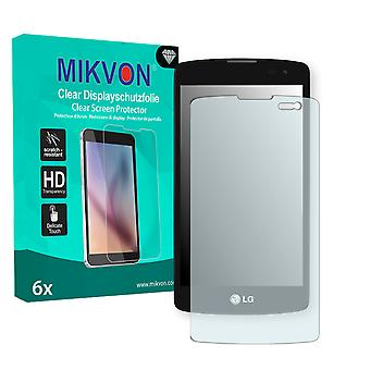 LG L Fino Screen Protector - Mikvon Clear (Retail Package with accessories)