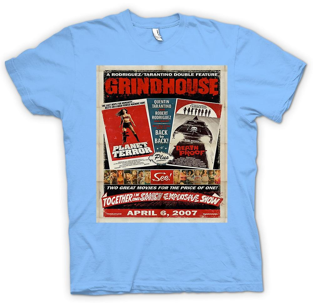 Mens t-skjorte-Grindhouse Planet Terror / Death Proof