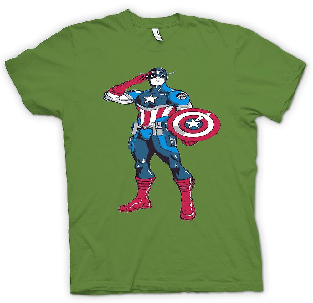 Mens T-shirt - Captain America Superhero - Sketch