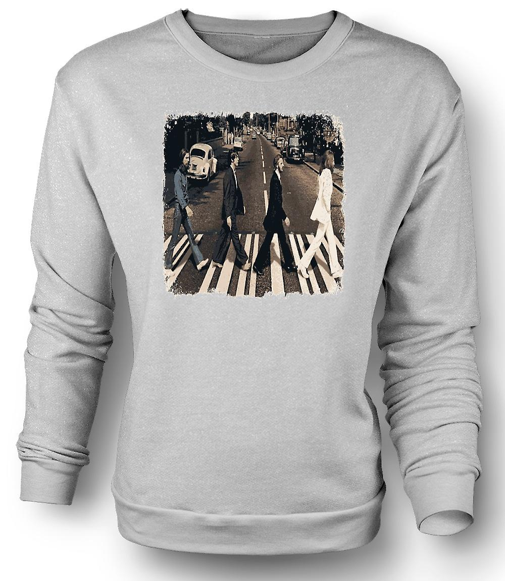 Mens Sweatshirt Beatles - Abbey Road - albumet konst