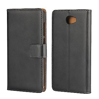 Huawei Y6 II Compact/Y5 II Wallet Case schwarz