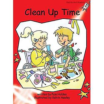 Clean Up Time: Level 1: Early (Red Rocket Readers: Fiction Set B)