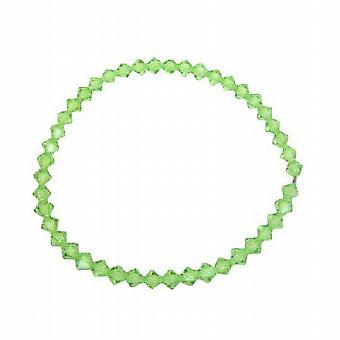 Affordable Peridot Crystals Swarovski Jewelry Stretchable Bracelet
