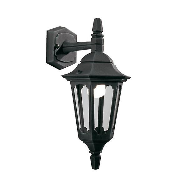 Parish Mini Down Wall Lantern noir  - Elstead Lighting