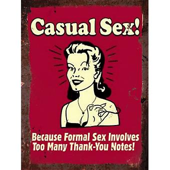 Vintage Metal Wall Sign - Casual Sex!