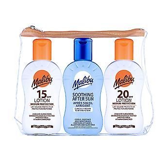 Malibu Travel Set Sun Lotion SPF 20, SPF 15, and After Sun