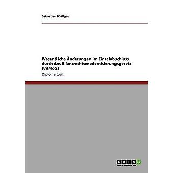 Bilanzrechtsmodernisierungsgesetz BilMoG. Wesentliche nderungen im Einzelabschluss by Krigau & Sebastian