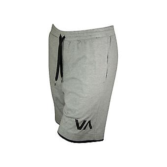 RVCA Mens VA Sport Layers Shorts - Heather Gray/Black